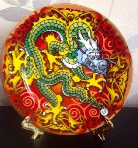 Тарелка Декор Дракон и Солнце