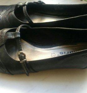 Туфли кожанные Tamaris.