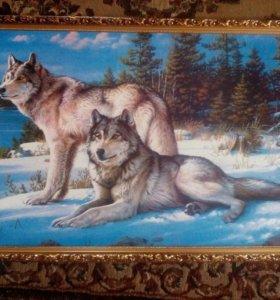 """Картина """"Волки"""""""