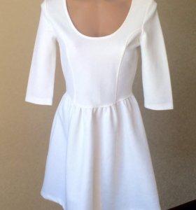 Белое платье S, 42-44