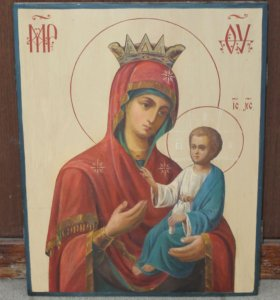 Икона Красивая Иверская Богородица под Афон