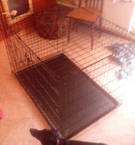 Клетка для крупных собак 110/70 высота75