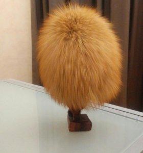 Шапка меховая из рыжей лисы