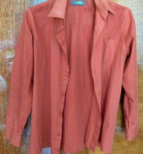 Рубашка оранжевая
