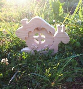 Деревянная игрушка, пазл