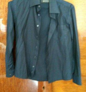 Рубашка тёмно-синяя