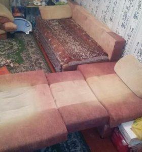 Мебель для дачи (диван+кресло)