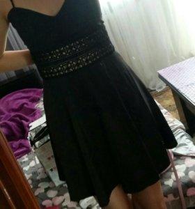 Платье черное новое сарафан