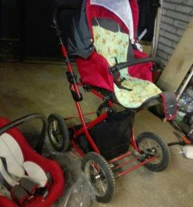 Детская коляска Lonex Carrozza 3 в 1