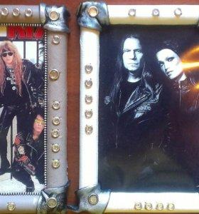 Панно из кожи для любителей рока и металла