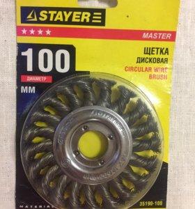 Щетка дисковая STAYER 100 мм