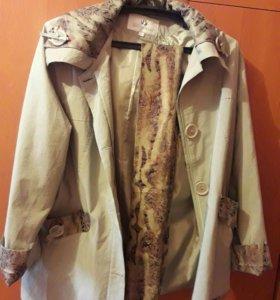 Куртка Новая р.54/56 цвет Хаки Демисезон