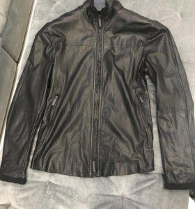 Кожаная куртка мужская Emporio Armani