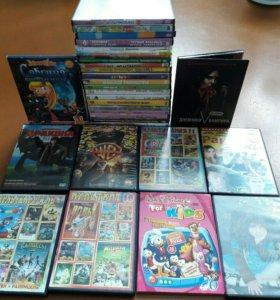 Диски DVD мультики фильмы много разных