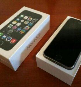 Iphone 5s черный 32гб(состояние идеал)