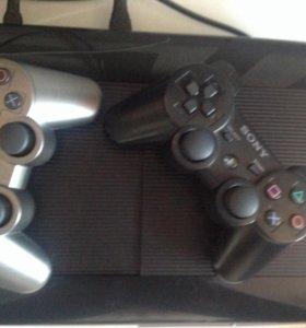 PS3 Super Slim 500 ГБ+ второй джойстик Duashlock 3