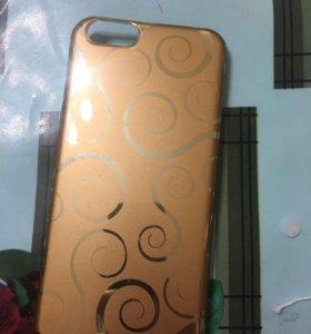 Чехол пластик золотого цвета на iPhone 6/6s
