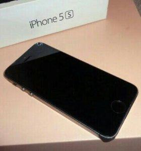 Iphone 5s черный 16гб(состояние идеал)