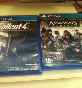 Fallout 4 и Assasin's Creed Синдикат на Ps4