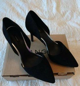 Туфли замшевые MANGO