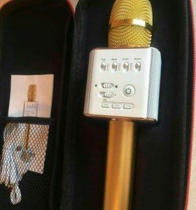 Микрофон караоке (золотой)