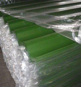 Шифер зеленый семиволновый