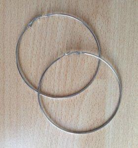 Серьги - кольца новые!