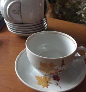 Чашка с блюдцем (6пар)