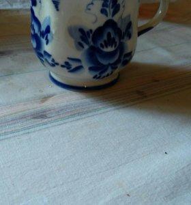 Чашка для чая.деревня Гжель