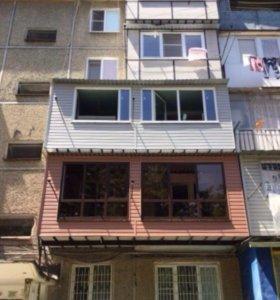 Расширение и утепление балконов
