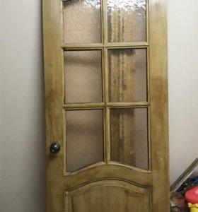 Двери межкомнатные, б/у, 4 штуки
