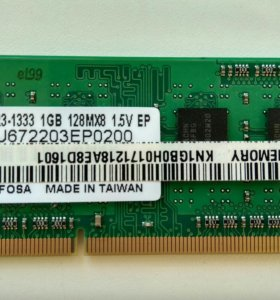 Память для ноутбука SO-DIMM DDR-3 1Gb