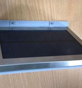 Прожектор на солнечной батарее с датчиком движения и освещенности