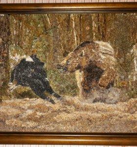 """Картина авторская """"Медведь или собака"""""""