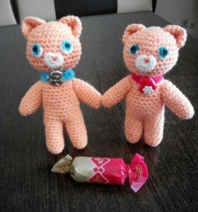 Игрушки Амигуруми Кот и Кошка
