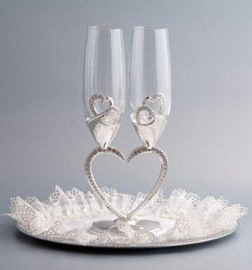 Новый свадебные бокалы Swarovski
