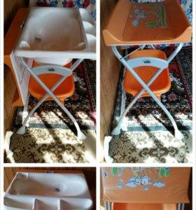 Ванночка и пеленальный стол 2в1 CAM