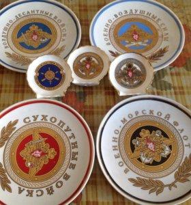 Тарелки декоративные с военной тематикой