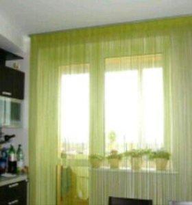Нитяные шторы размер