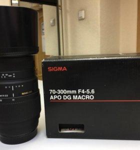 Объектив Sigma 70-300 mm F4-5.6 APO DG Macro