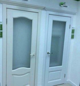 Белые двери покрытие винил