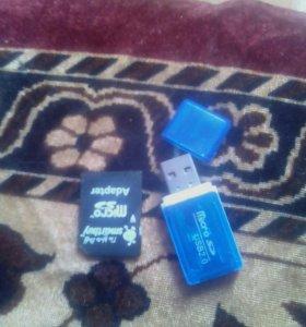 Адаптер USB и micro sd