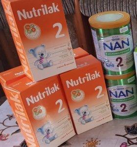 Продается нутрилак и Nan кисломолочка