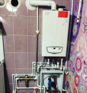 Монтаж отопления, водопровода