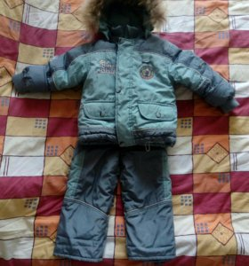 Зимний комплект (куртка-пуховик, штаны, жилет)