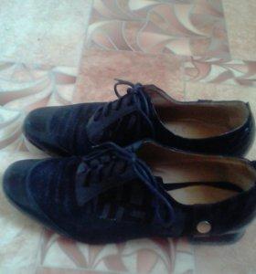 Туфли нат.кожа,замша