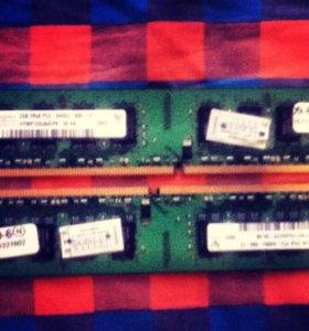Оперативная память DDR2 2GB 800MHz 2шт.