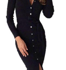 Чёрное, новое платье S