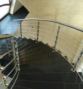 Лестница/Ограждения/Из нержавейки