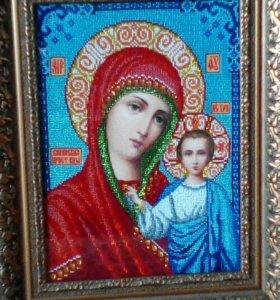 Икона ,Казанская божья матерь